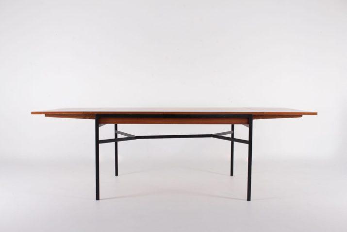 Table moderniste à allonges René Jean Caillette