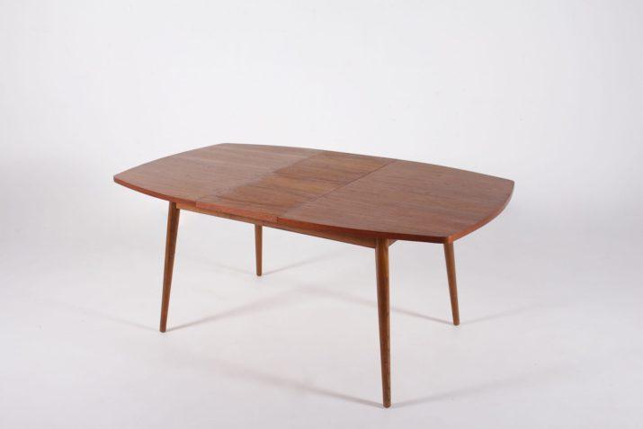 """Table """"tonneau"""" à allonge centrale"""