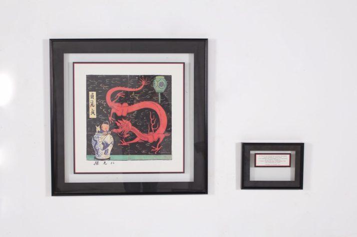 Hergé - Le Lotus Bleu - Lithographie