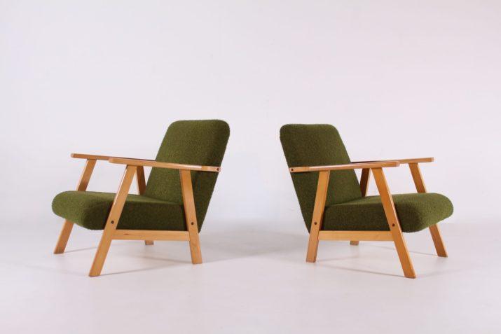 Paire de fauteuils compas Magyars