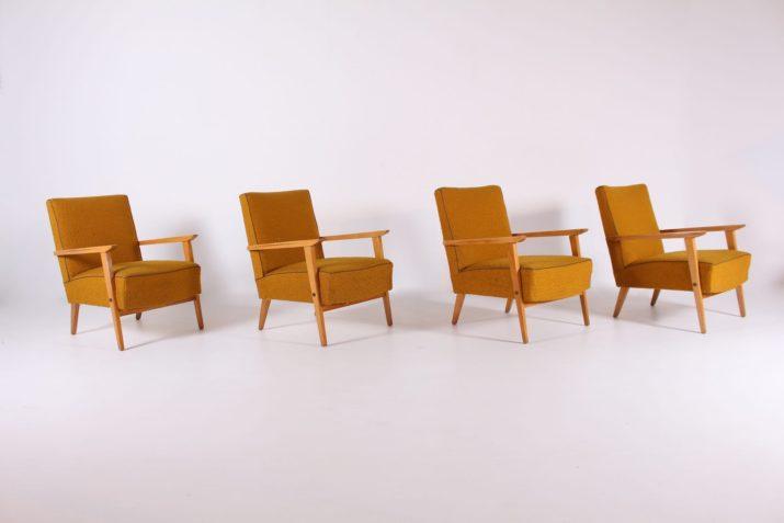 4 Fauteuils années 60