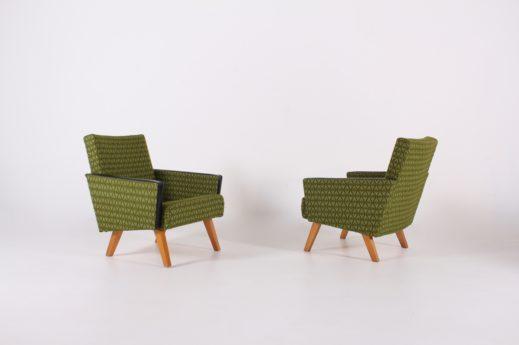Paire de fauteuils clubs 1960