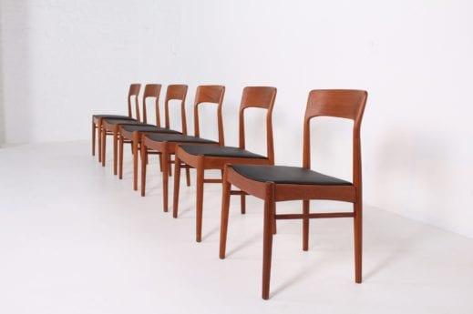 5 chaises danoises Korup Stolefabrik