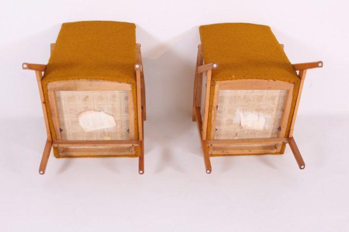 Paire de fauteuils Hongrois années 60