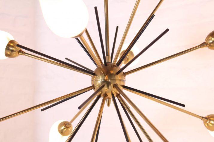 Lustre sputnik en laiton