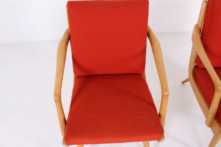 Paire de fauteuils en cerisier 1960