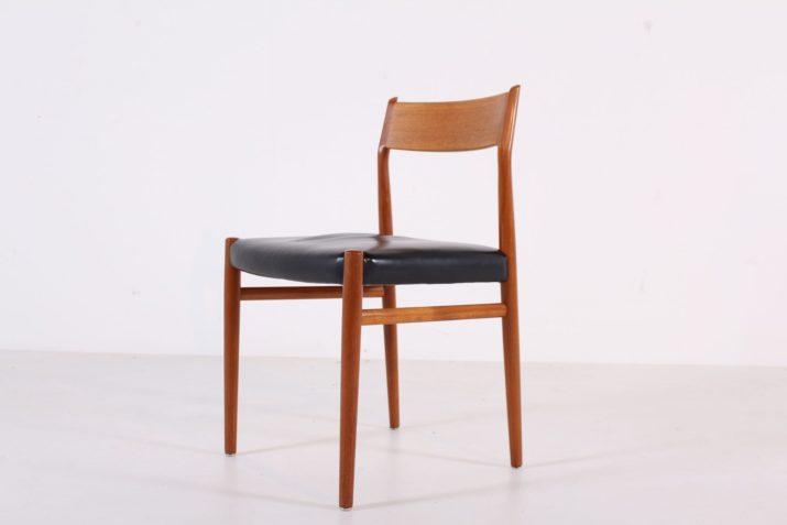 """6 chaises Arne Vodder """"Model 418"""""""