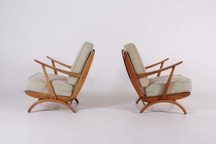 Paire de fauteuils 1950