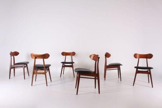Wébé: 6 chaises Louis van Teeffelen