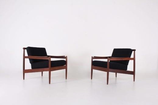 Paire de fauteuils Jos de Mey pour Luxus