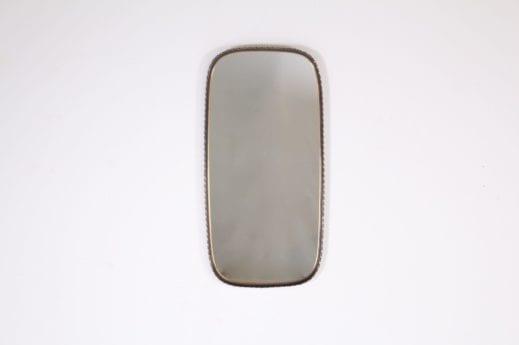 Miroir oval en laiton 1960