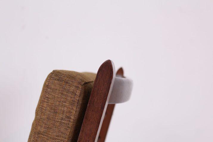 Fauteuils scandinaves en palissandre