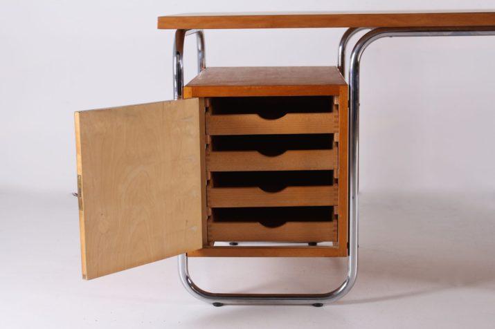 Bureau en acier tubulaire de style Bauhaus