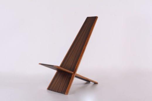 Chaise à palabre en palissandre massif