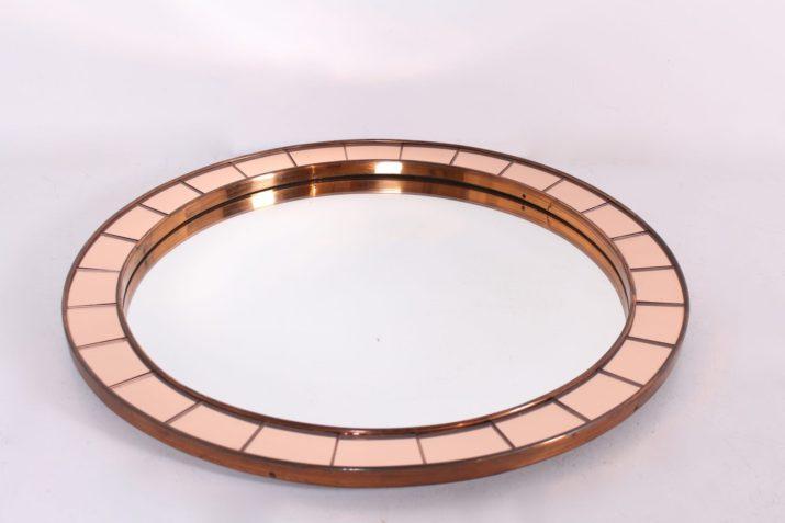 Grand miroir circulaire style Cristal-Art