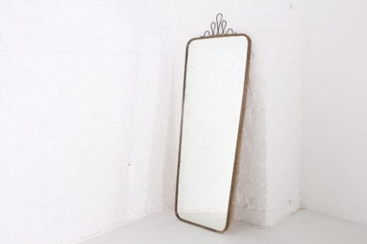 Grand miroir en laiton style Josef Frank