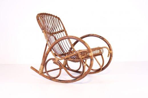 Rocking chair en bambou & rotin