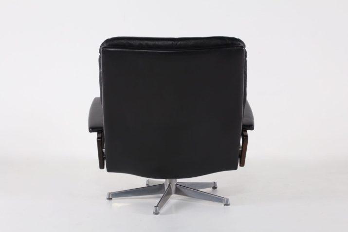 "Fauteuil ""King chair"" en cuir noir"