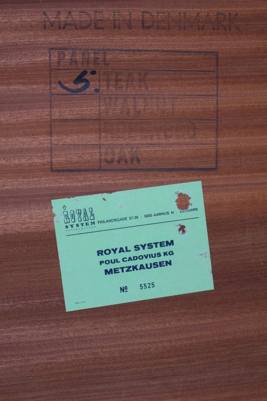 Système mural modulable Royal System, Poul Cadovius.