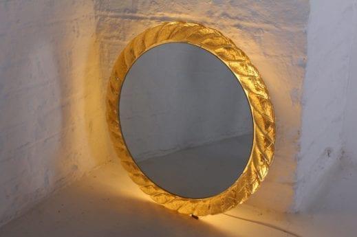 Miroir lumineux en résine acrylique