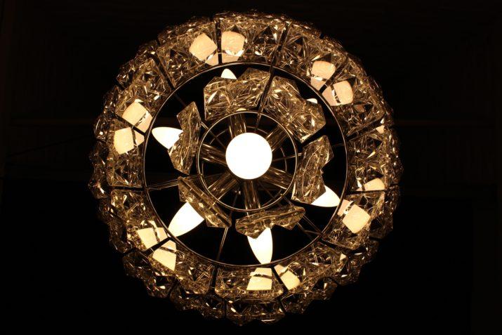 Lustre à pampilles pointes de diamant Kinkeldey