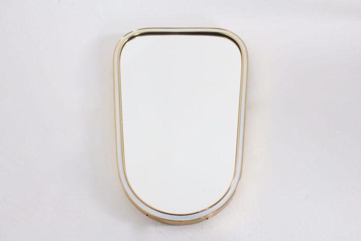 Petit miroir laiton forme libre