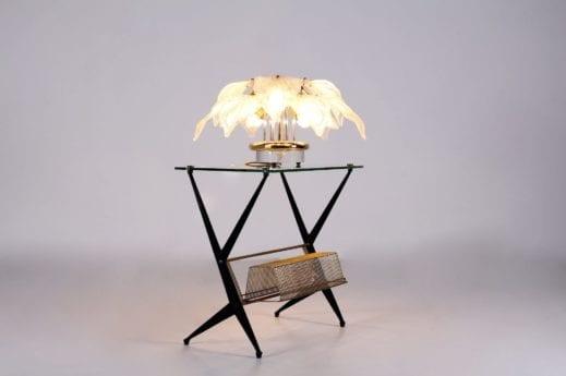 Lampe en laiton et verre de Murano Novaresi