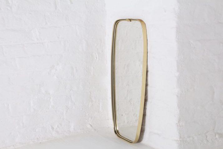 Miroir en laiton forme libre