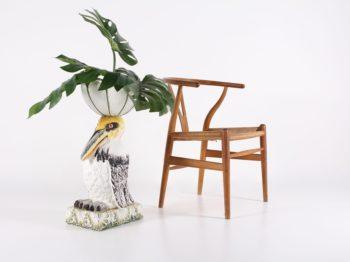 Cache-pot Toucan en majolique