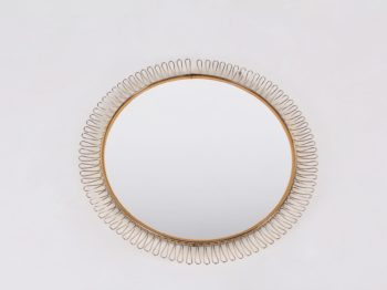 Miroir soleil style Josef Frank
