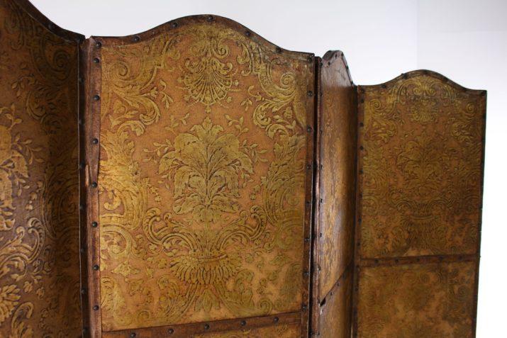 Paravent baroque en cuir de Cordoue