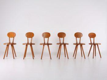 6 chaises de chalet modernistes