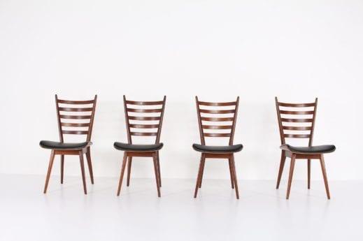 4 chaises attribuées Cees Braakman & Pastoe, 1960's