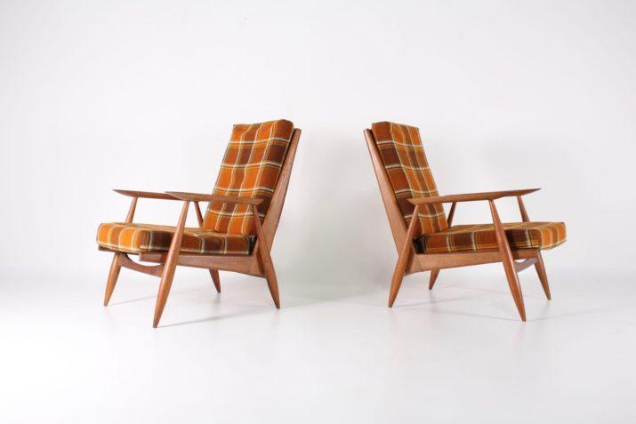 Paire de fauteuils Marvelus, 1950s