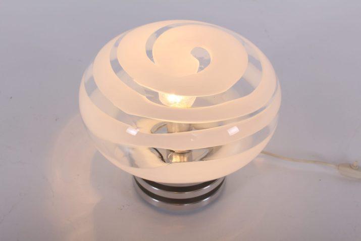 Lampe opaline spirale style Murano