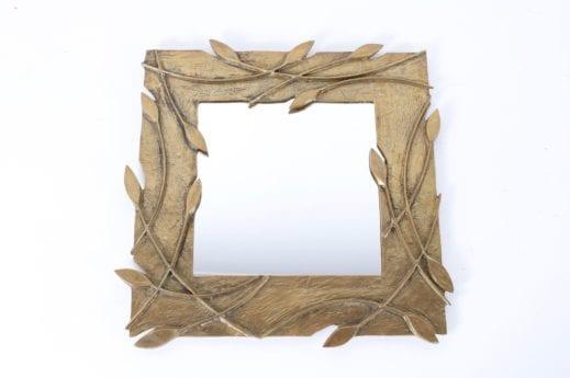 Miroir carré décor végétal