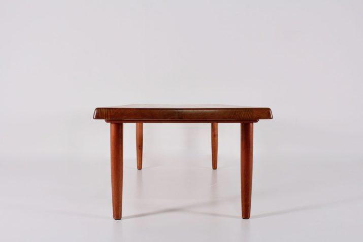 Grande table basse danoise en teck massif