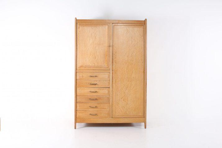 Jacques Adnet: Bureau à tirette et son armoire