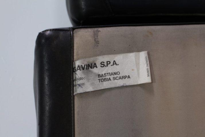 "Canapé cuir ""Bastiano"" 4 places Tobia Scarpa & Gavina"