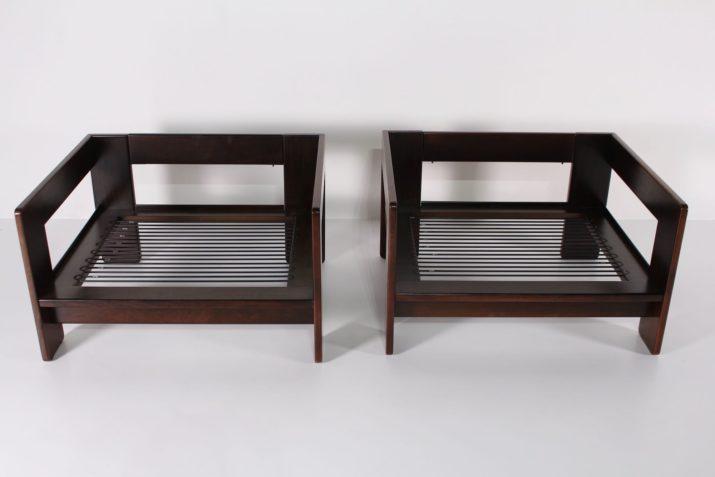 "Deux fauteuils ""Bastiano"" Tobia Scarpa & Gavina"