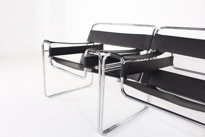 Paire de fauteuils style Wassily