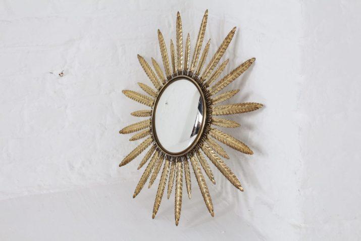 Miroir soleil convexe en laiton