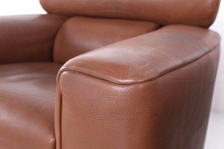 Paire de fauteuils en cuir de Sede