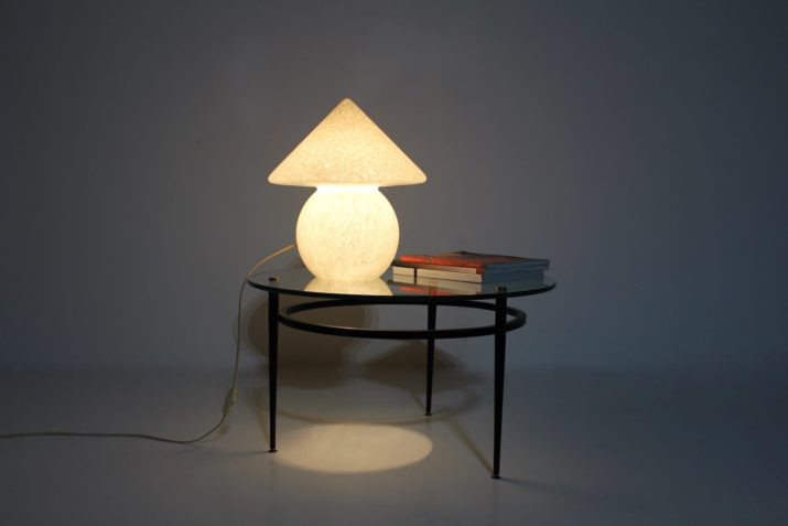 Lampe champignon en opaline