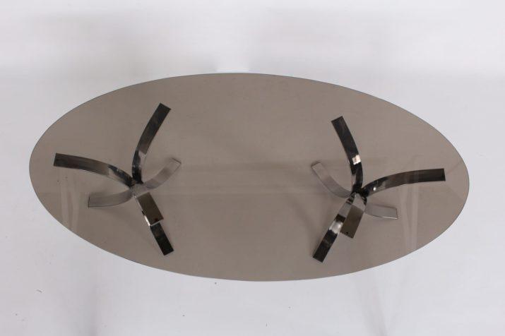 Table console ovale style Borsani, 1970s