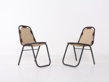 2 chaises style Charlotte Perriand