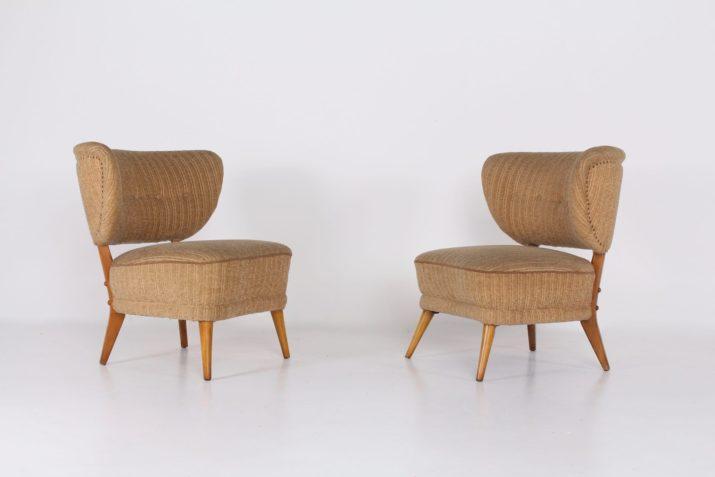 Otto Schulz paire de fauteuils Cocktail ***OPTION***