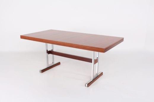 Table à allonges en teck et palissandre