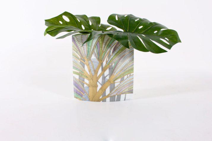 Vase Rosenthal décor floral