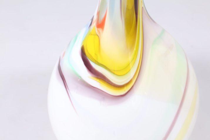 Grand vase soliflore en verre de Murano